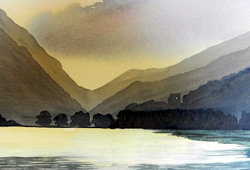 Work produced at Watercolour workshop, Brecon Beacons